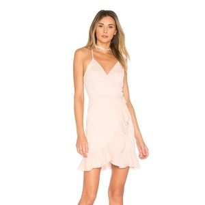 NEW Lovers+Friends Gigi Wrap Dress Pink XS E1